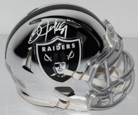 Bo Jackson Signed Raiders Chrome Speed Mini Helmet (Jackson Hologram) at PristineAuction.com