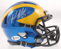 Denard Robinson Signed Michigan Wolverines Chrome Speed Mini-Helmet (Beckett COA) at PristineAuction.com