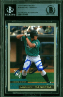 Miguel Cabrera Signed 2000 Topps Traded #T40 RC (BGS Encapsulated) at PristineAuction.com