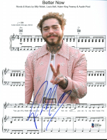 "Post Malone Signed ""Better Now"" 8.5x11 Lyric Sheet (Beckett COA) at PristineAuction.com"