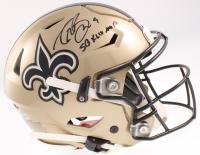 "Drew Brees Signed Saints Full-Size Authentic On-Field SpeedFlex Helmet Inscribed ""SB XLIV MVP"" (Beckett COA & Brees Hologram) at PristineAuction.com"