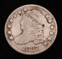 1827 Capped Bust Silver Dime at PristineAuction.com