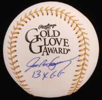 "Ivan Rodriguez Signed Rawlings Gold Glove Award Baseball Inscribed ""13x GG"" (JSA COA) at PristineAuction.com"