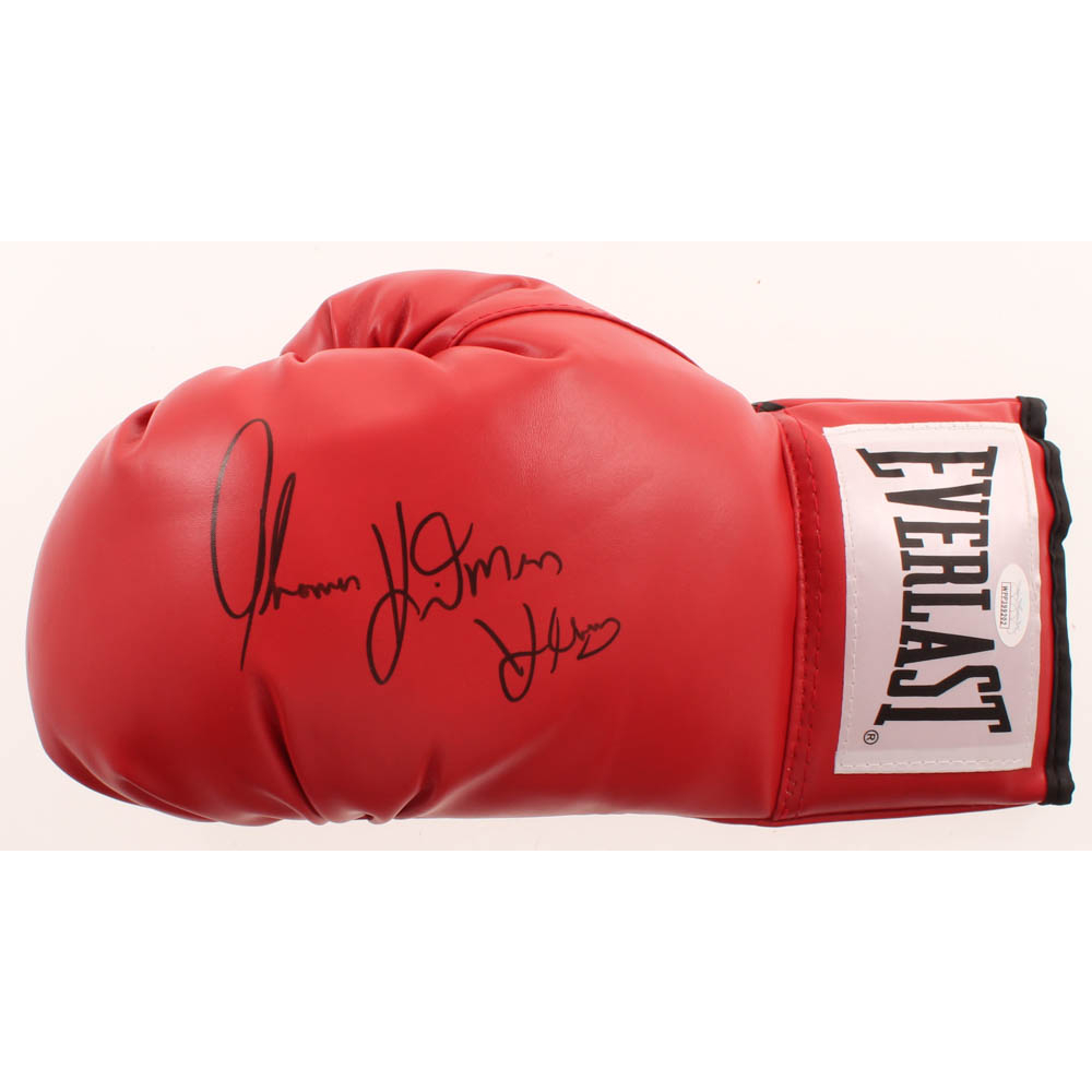 Thomas Hitman Hearns Signed Everlast Boxing Glove Jsa Coa Pristine Auction