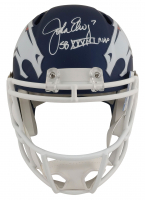 "John Elway Signed Broncos Full-Size AMP Alternate Speed Helmet Inscribed ""SB XXXIII MVP"" (Beckett COA) at PristineAuction.com"