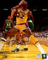 Larry Bird Signed Celtics 8x10 Photo (Bird Hologram) at PristineAuction.com