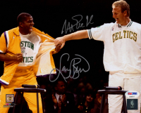 Magic Johnson & Larry Bird Signed 8x10 Photo (PSA COA) at PristineAuction.com