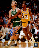 Larry Bird Signed Celtics 8x10 Photo (Bird Hologram) at PristineAuction.com