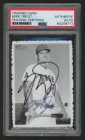 Mike Trout Signed 2018 Topps Heritage '69 Topps Deckle Edge #1 (PSA Encapsulated) at PristineAuction.com