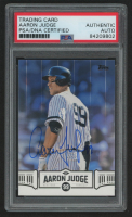 Aaron Judge Signed 2018 Topps Aaron Judge Highlights Blue #AJ3 (PSA Encapsulated) at PristineAuction.com