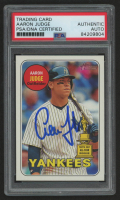 Aaron Judge Signed 2018 Topps Heritage #25 (PSA Encapsulated) at PristineAuction.com