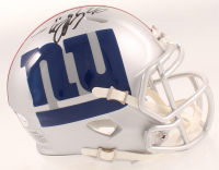 Saquon Barkley Signed Giants AMP Alternate Speed Mini Helmet (Beckett COA) at PristineAuction.com