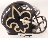 "Drew Brees Signed Saints AMP Alternate Speed Mini Helmet Inscribed ""SB XLIV MVP"" (Beckett COA & Brees Hologram) at PristineAuction.com"