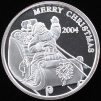 "2004 1 Ounce .999 Fine Silver ""Merry Christmas"" Bullion Round at PristineAuction.com"
