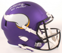 "Kyle Rudolph Signed Vikings Full-Size Speed Helmet Inscribed ""Big Country"" (Beckett COA) at PristineAuction.com"