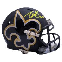 Drew Brees Signed Saints AMP Alternate Speed Mini Helmet (Beckett COA & Brees Hologram) at PristineAuction.com