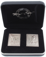 Set of (2) LE 1995 Highland Mint .999 Fine Silver Mini Baseball Cards with Ken Griffey Jr. & Frank Thomas in Original Case at PristineAuction.com