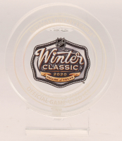 2020 NHL Winter Classic Ice Filled Crystal Hockey Puck (Fanatics COA) at PristineAuction.com