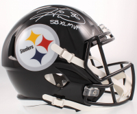 """Hines Ward Signed Steelers Speed Full-Size Helmet Inscribed """"SB XL MVP"""" (Beckett COA) at PristineAuction.com"""