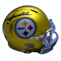 Terry Bradshaw Signed Steelers Blaze Speed Mini Helmet (Beckett COA & Bradshaw Hologram) at PristineAuction.com