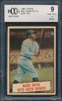 Babe Ruth 1961 Topps #401 60th HR (BCCG 9) at PristineAuction.com