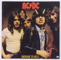 """Angus Young Signed """"Highway To Hell"""" Vinyl Album Cover (JSA LOA) at PristineAuction.com"""