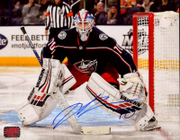 Joonas Korpisalo Signed Blue Jackets 8x10 Photo (Your Sports Memorabilia Store COA) at PristineAuction.com