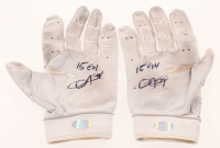 """Dexter Fowler Signed Pair of Game-Used Batting Gloves Inscribed """"15 GU"""" (LOJO Hologram) at PristineAuction.com"""