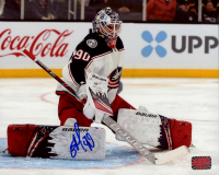 Elvis Merzlikins Signed Blue Jackets 8x10 Photo (Your Sports Memorabilia Store COA) at PristineAuction.com