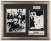 "Muhammad Ali Signed 16x20 Custom Framed Cut Display Inscribed ""8-2-91"" (SOP LOA) at PristineAuction.com"