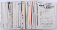 Lot of (71) Sheets of Music With (1) Jean Harlow Life Story Program & (2) Song Review Papers at PristineAuction.com