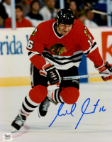 Michel Goulet Signed Blackhawks 8x10 Photo (Autograph Reference COA) at PristineAuction.com
