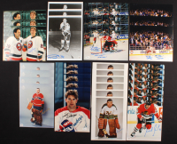 Lot of (33) Signed 8x10 Photos With Gump Worsley, Mike Bossy, Stephane Matteau, Michel Goulet, Pierre Pilote & Scott Niedermayer (JSA COA & Autograph Reference COA) at PristineAuction.com
