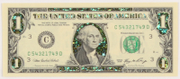 22Kt Gold 2006 U.S. $1 One Dollar Green Seal Federal Reserve Note at PristineAuction.com