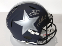 "Troy Aikman, Emmitt Smith & Michael Irvin Signed ""The Triplets"" Cowboys Full-Size Speed Helmet (Beckett COA) at PristineAuction.com"