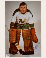 Gump Worsley Signed North Stars 8x10 Photo (Autograph Reference COA) at PristineAuction.com