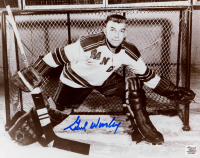 Gump Worsley Signed Rangers 8x10 Photo (Autograph Reference COA) at PristineAuction.com