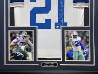 Ezekiel Elliott Signed 34.5x42.5 Custom Framed Jersey (Beckett COA) at PristineAuction.com