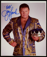 "Jerry ""The King"" Lawler Signed 8x10 Photo Inscribed ""King"" (Sports Cards SOA) at PristineAuction.com"