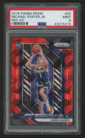 Michael Porter Jr. 2018-19 Panini Prizm Prizms Red Ice #32 (PSA 9) at PristineAuction.com