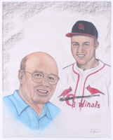 Joe Garagiola Cardinals 16x20 Lithograph at PristineAuction.com