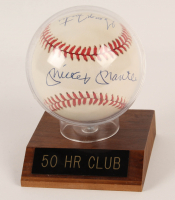 ONL Baseball Signed By (6) With Mickey Mantle, Willie Mays, Ralph Kiner, Johnny Mize, Geroge Foster & Cecil Fielder With Display Case (JSA LOA) at PristineAuction.com