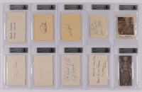 Lot of (10) Signed Celebrity Cuts with Anne Baxter, Dana Andrews, William F. Buckley, Dawn Wells With Inscriptions (BGS Encapsulated) at PristineAuction.com