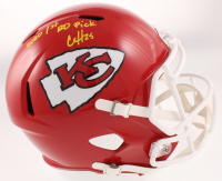 """Clyde Edwards-Helaire Signed Chiefs Full-Size Speed Helmet Inscribed """"2020 1st RD Pick"""" (Beckett COA) at PristineAuction.com"""