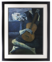 "Pablo Picasso ""The Old Guitarist"" 20x26 Custom Framed Print Display at PristineAuction.com"