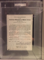 Bud Abbott & Lou Costello Signed 28x34 Custom Framed 1939 AFTRA Contracts (PSA Encapsulated) at PristineAuction.com