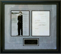 Charlie Chaplin Signed 21x23 Custom Framed 1937 Letter (PSA LOA) at PristineAuction.com