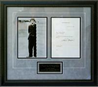 Charlie Chaplin Signed 21x23 Custom Framed 1937 Letter (PSA LOA) at PristineAuction.com