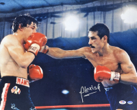 Alexis Arguello Signed 16x20 Photo with Ray Mancini (PSA COA & Sports Integrity Hologram) at PristineAuction.com