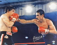 Alexis Arguello Signed 16x20 Photo with Ray Mancini (Beckett COA & Sports Integrity Hologram) at PristineAuction.com